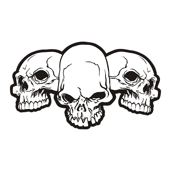 Row of skulls sticker decal click to zoom