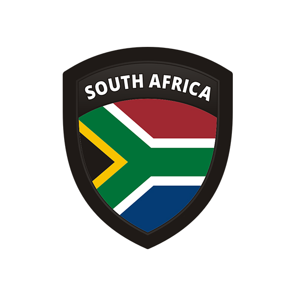 South africa flag african shield badge sticker decal