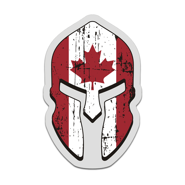 Canada flag spartan helmet decal canadian sticker click to zoom · canada flag spartan helmet decal canadian sticker
