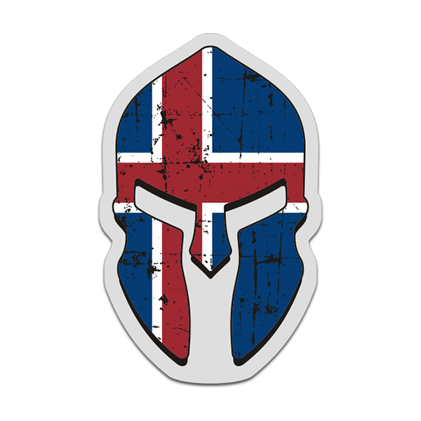 Iceland flag spartan helmet decal icelandic nordic sticker click to zoom