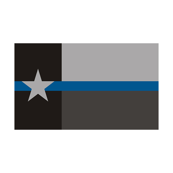 Various Sizes Thin Blue line decal State of Texas 1 Asterisk 1* Decal