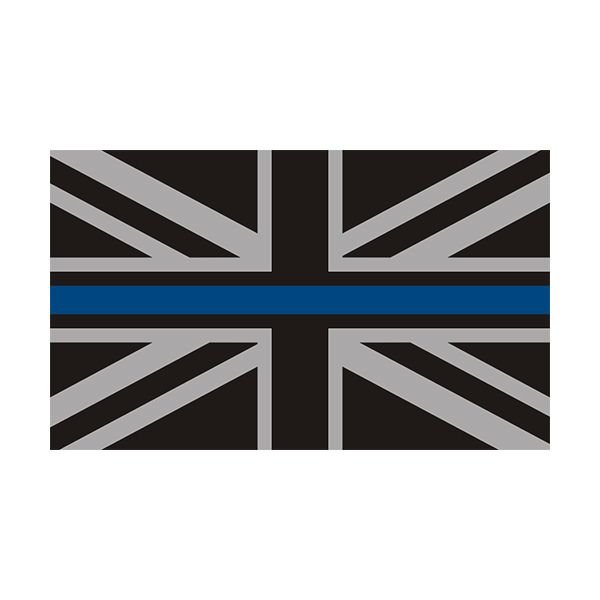 Decal High Quality Vinyl Thin Blue Line Union Jack Stickers Police