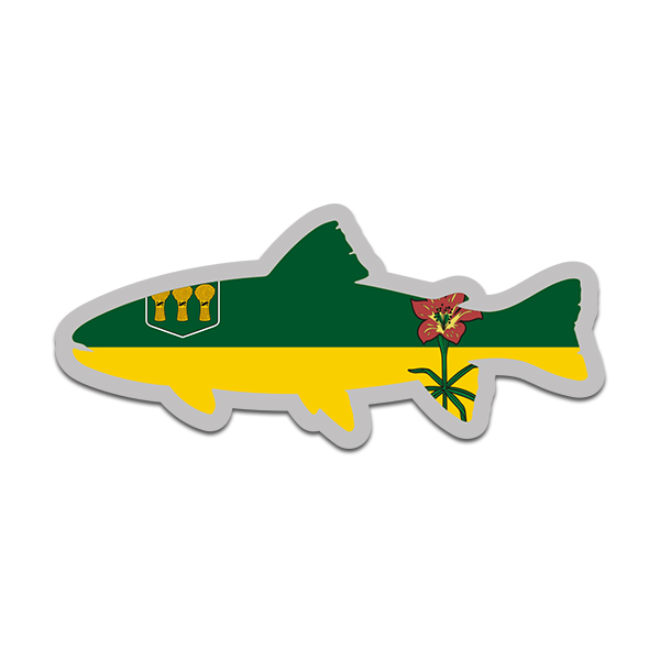 Saskatchewan Map Flag Decal Sticker