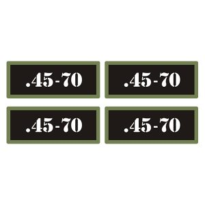 Details about  /.45-70 Ammo Can Decal Gun Ammunition Box Firearm Orange Sticker OR 4 Pack